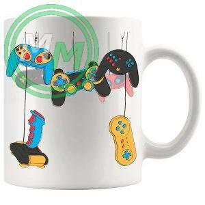 gaming console controllers novelty mug