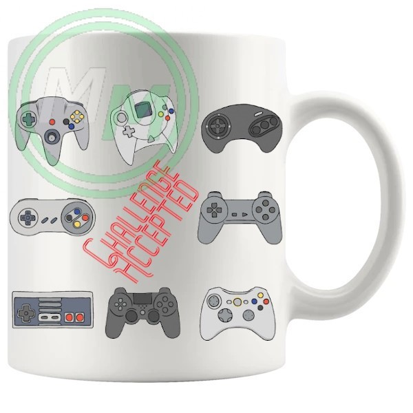gaming console controllers style 2 novelty mug