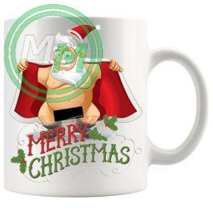 rude santa novelty mug