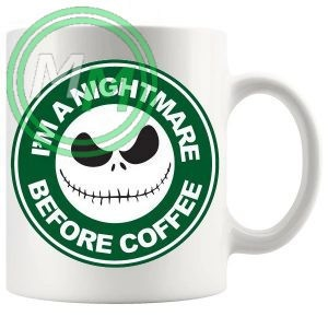 im a nightmare before coffee novelty mug