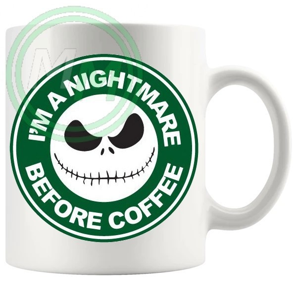 im a nightmare before coffee novelty mug