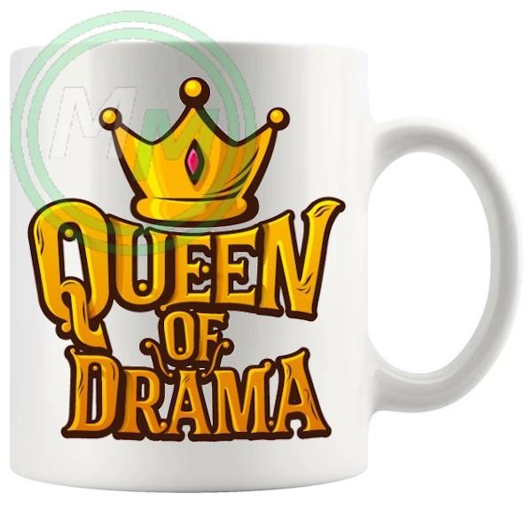 queen of drama novelty mug