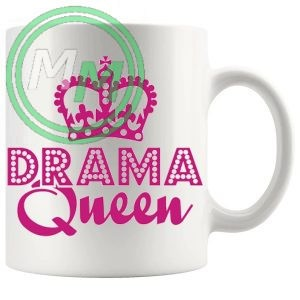 drama queen style 2 novelty mug