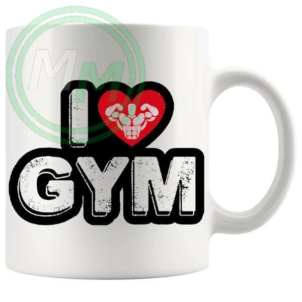 i love gym style 2 novelty mug
