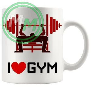 i love gym novelty mug