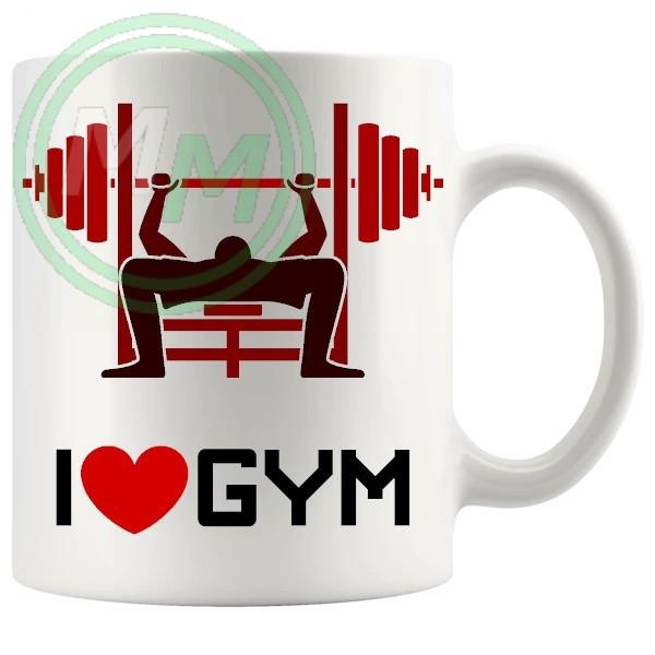 i love gym novelty mug