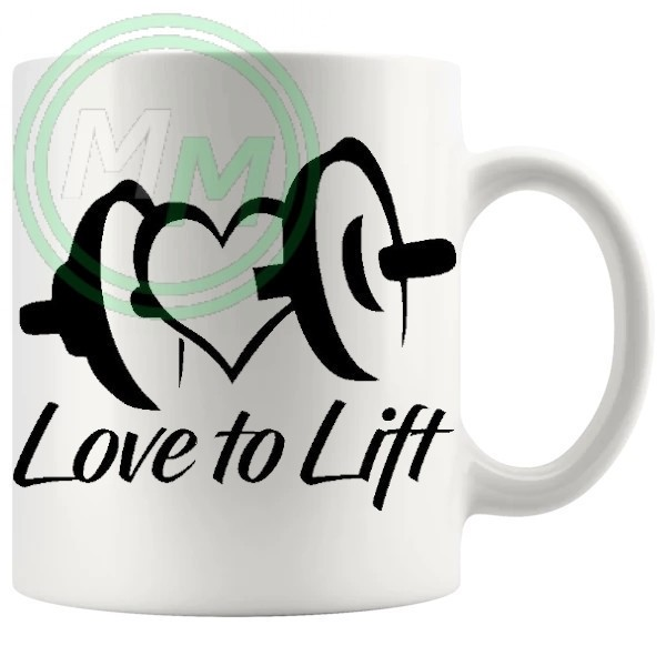 love to lift novelty mug