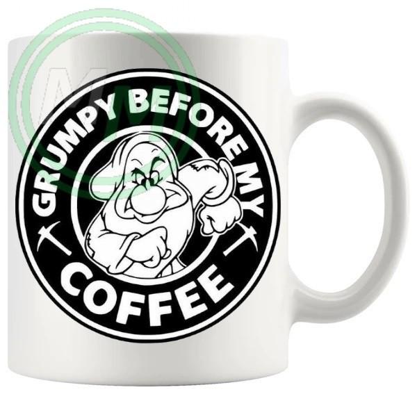 grumpy before coffee novelty mug