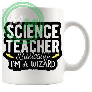 science teacher basically im a wizard novelty mug