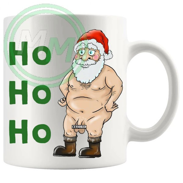 ho ho ho censored santa Novelty Mug