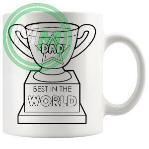 best dad in the world Novelty Mug