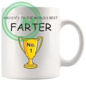 Awarded To The Worlds No1 Farter Novelty Mug
