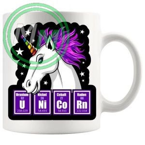 the science of the unicorn novelty mug