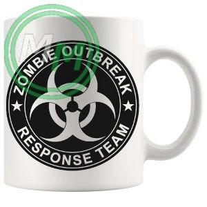 zombie outbreak response team novelty mug