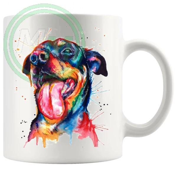 Painted Dog Style No2 Rottweiler Artistic Novelty Mug