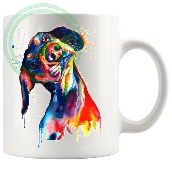 Painted Dog Style No1 Artistic Novelty Mug