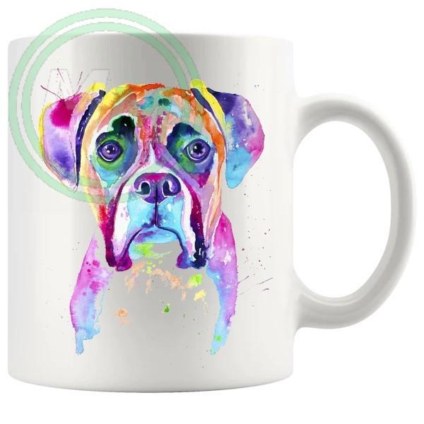 Painted dog style 07 Artistic Novelty Mug