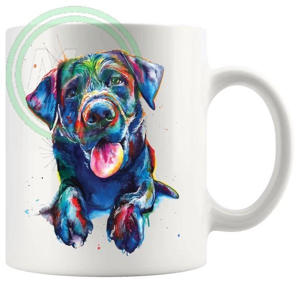 Painted Dog Style No5 Artistic Novelty Mug