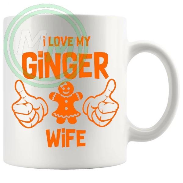 i love my ginger wife Novelty Mug
