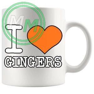 i love gingers style 3 Novelty Mug