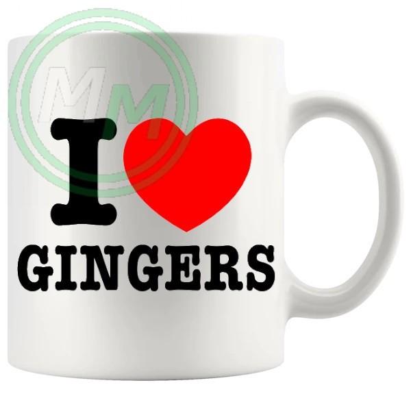 i love gingers style 2 Novelty Mug