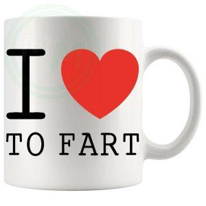 i love to fart Novelty Mug