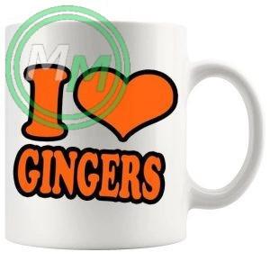I Love Gingers Style 1 Novelty Mug