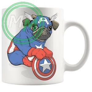 captain pug Novelty Mug