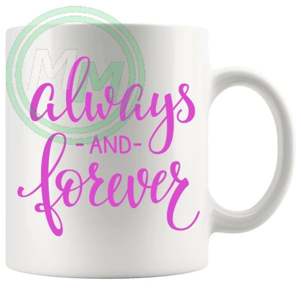always and forever novelty mug in pink