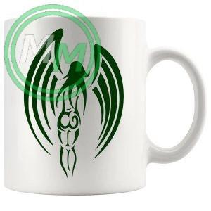 Guardian Angel Mug in Green