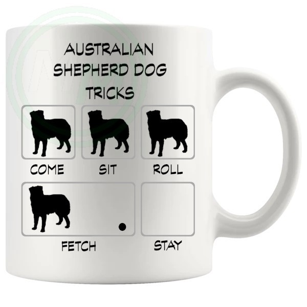 Australian Shepherd Dog Tricks Mug