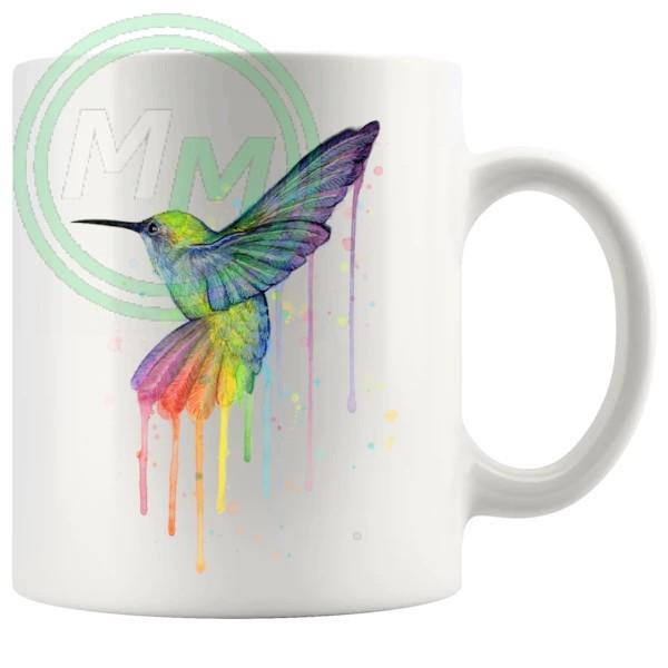 Painted Hummingbird Artistic Novelty Mug