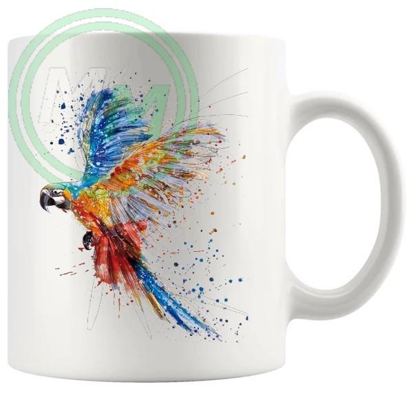 Painted Macaw Artistic Novelty Mug