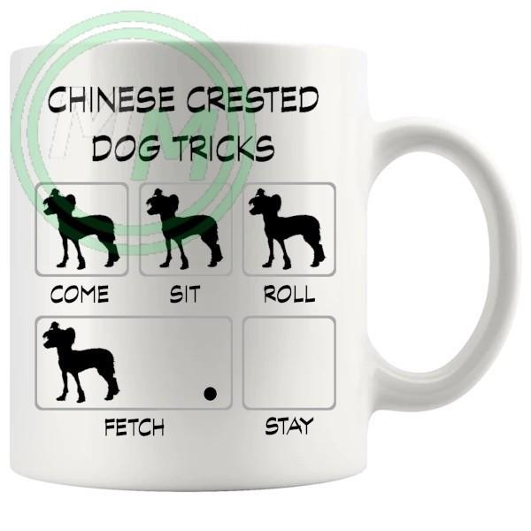 Chinese Crested Dog Tricks Mug
