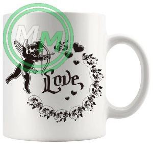 cupid valentine novelty mug