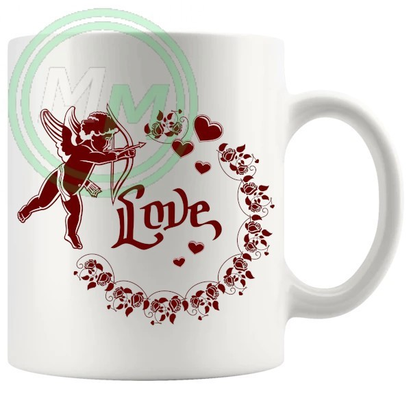 Cupid Valentines Novelty Mug In Red