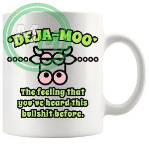 deja moo novelty mug green