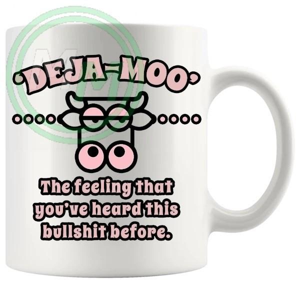 deja moo novelty mug pink