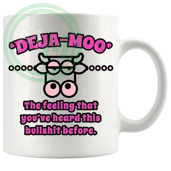deja moo novelty mug in vivid pink