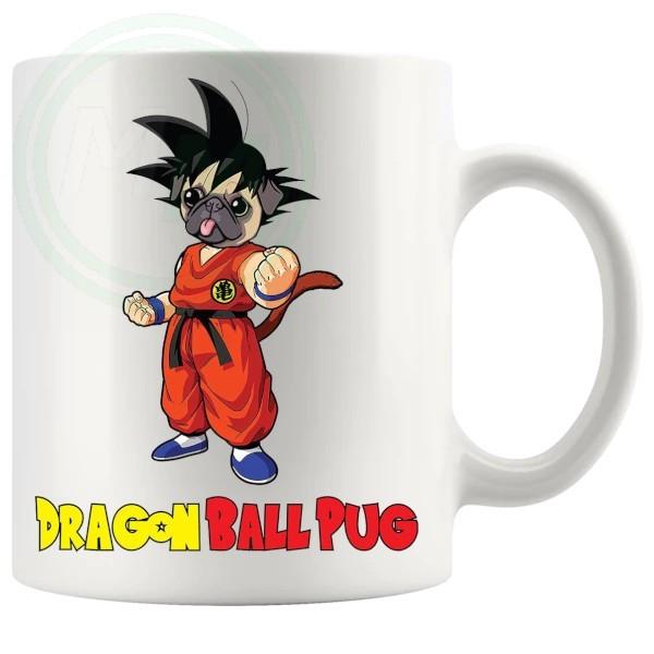 dragonball pug novelty mug