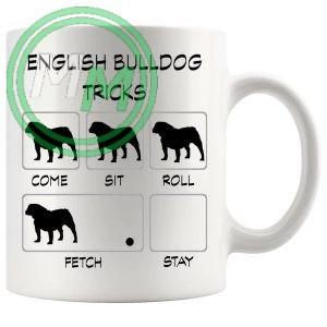 English Bulldog Tricks Mug