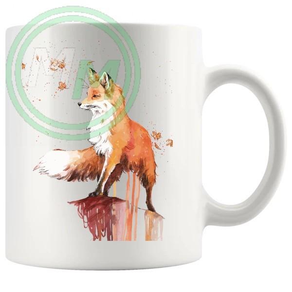 Painted Fox Artistic Novelty Mug