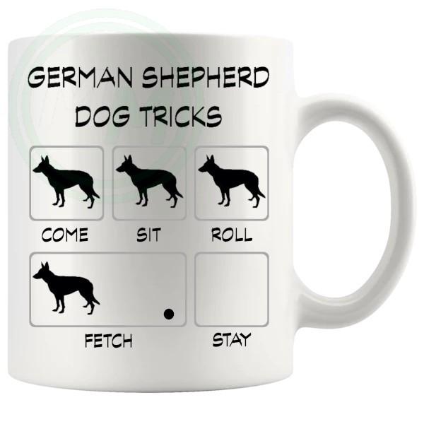 German Shepherd Tricks Mug