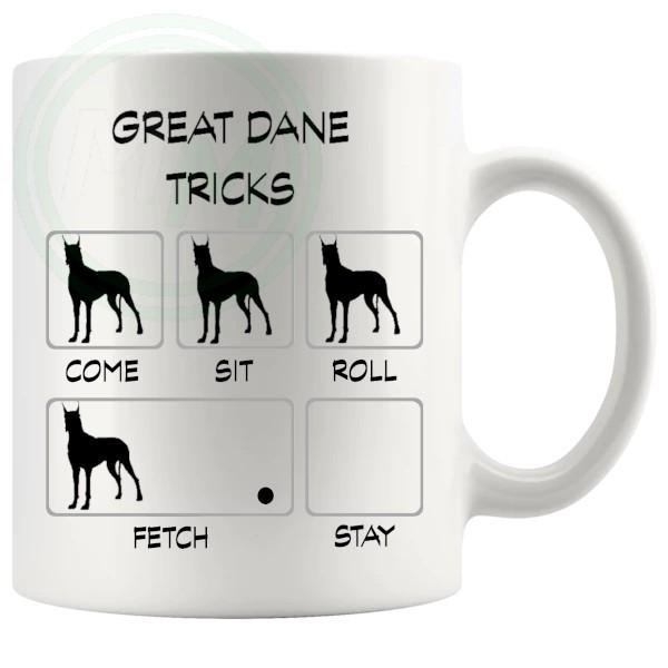 Great Dane Tricks Mug