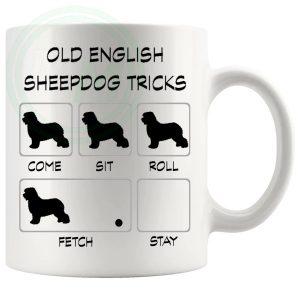 Old English Sheepdog Tricks Mug