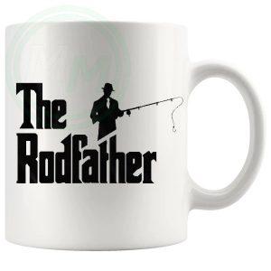 the rodfather novelty fishing mug