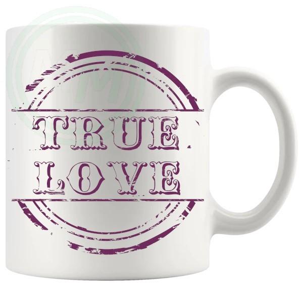 True Love Novelty Mug Burgundy