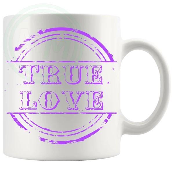 True Love Novelty Mug Purple
