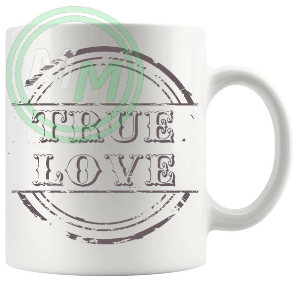 True Love Novelty Mug Grey