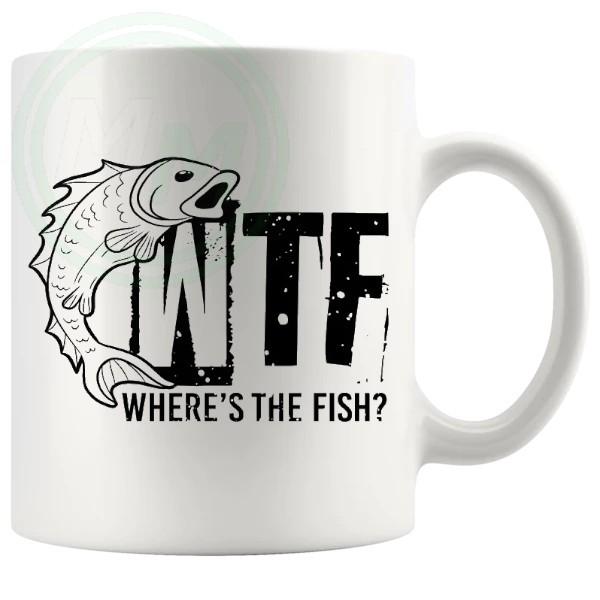 WTF Wheres The Fish Fishing Mug